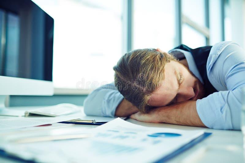Ruptura do sono imagens de stock