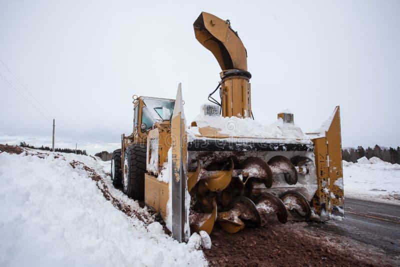 Ruptura do ventilador de neve fotografia de stock royalty free