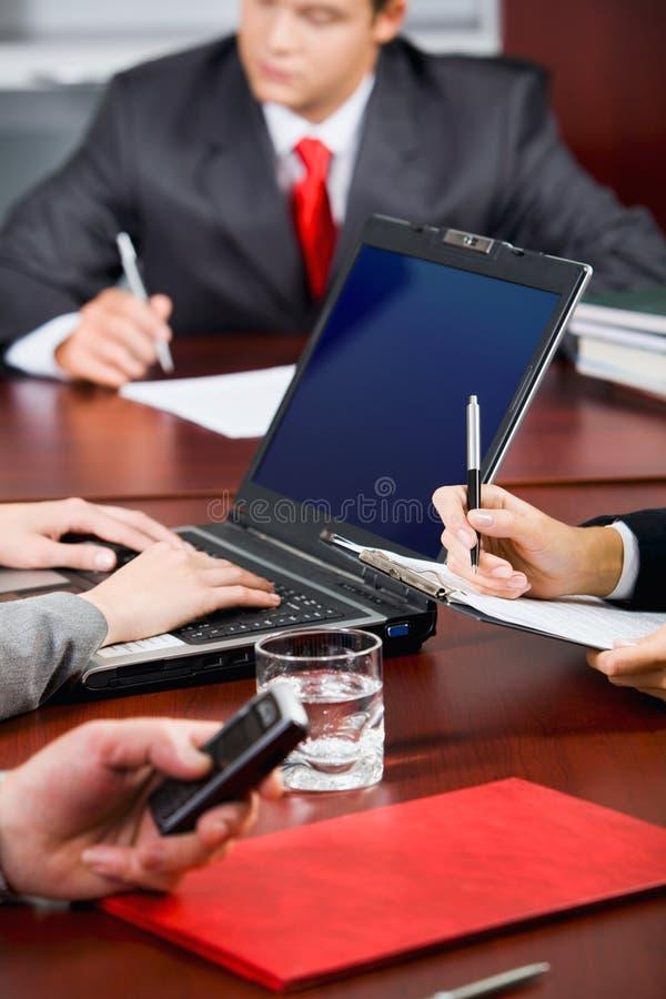 Ruptura durante a conferência imagem de stock royalty free