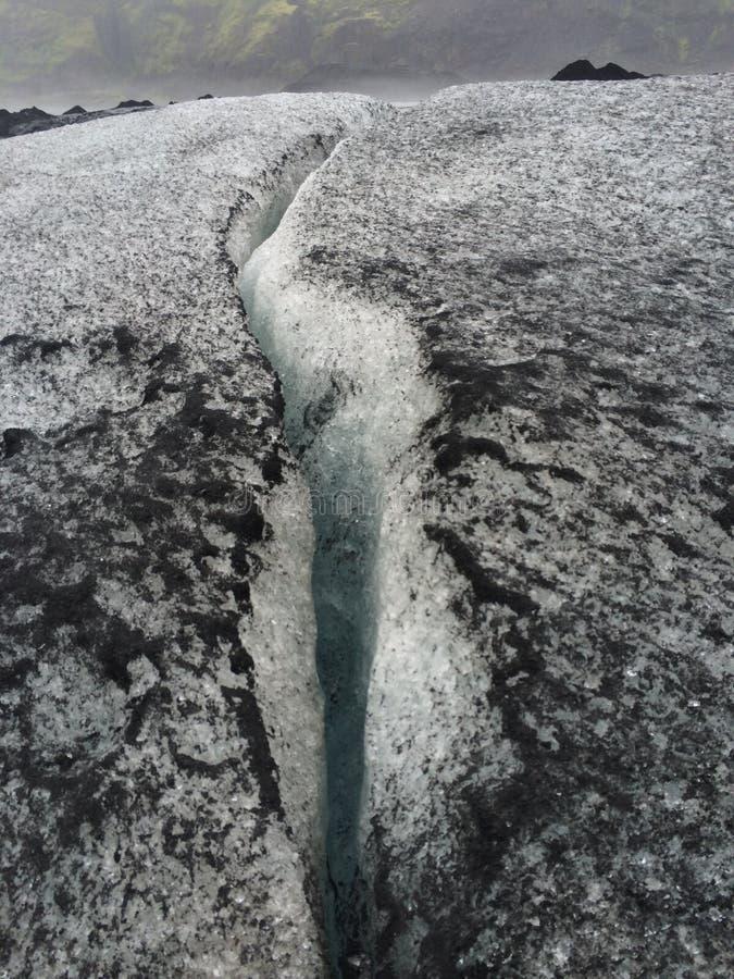 Ruptura na geleira imagem de stock