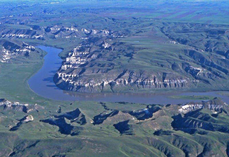 Rupturas de Missouri em Montana fotos de stock