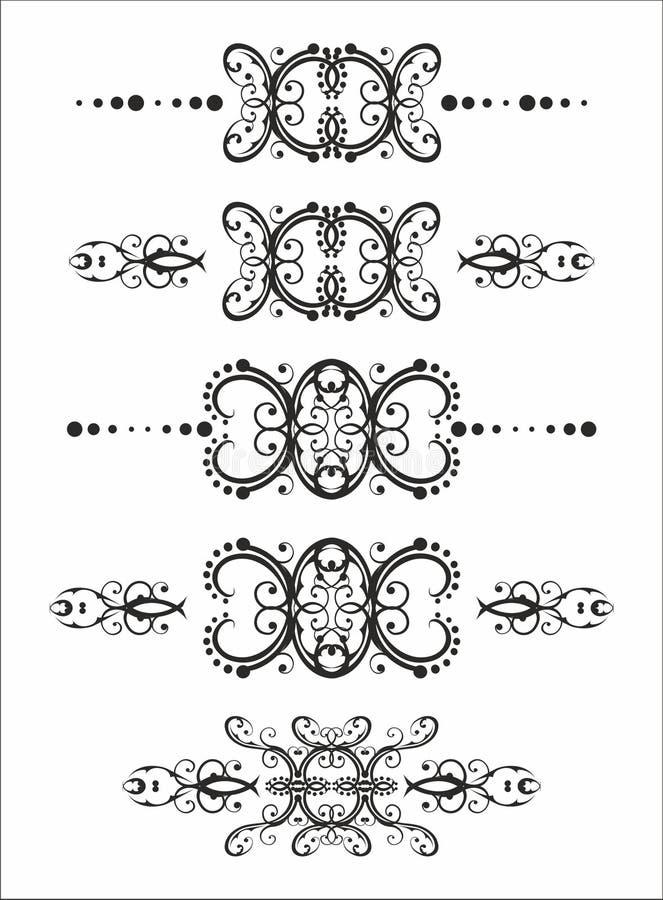 Rupturas florais do texto ilustração stock