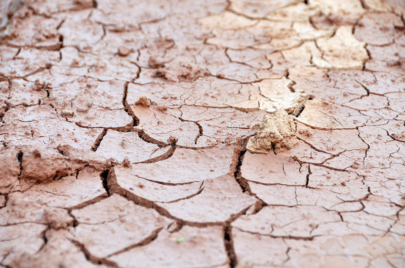 Rupture becaue of Drought. Rupture of earth because of Drought royalty free stock image