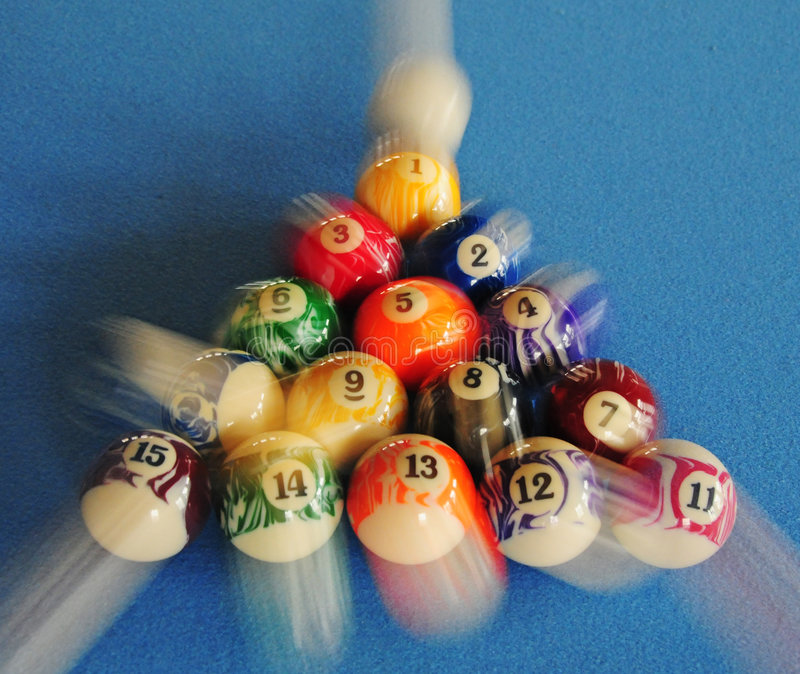Rupture de billard photo libre de droits