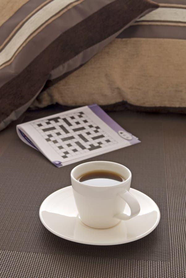 Rupture de Coffe avec le puzzle photographie stock