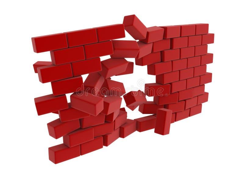 Rupture de mur, avant illustration stock