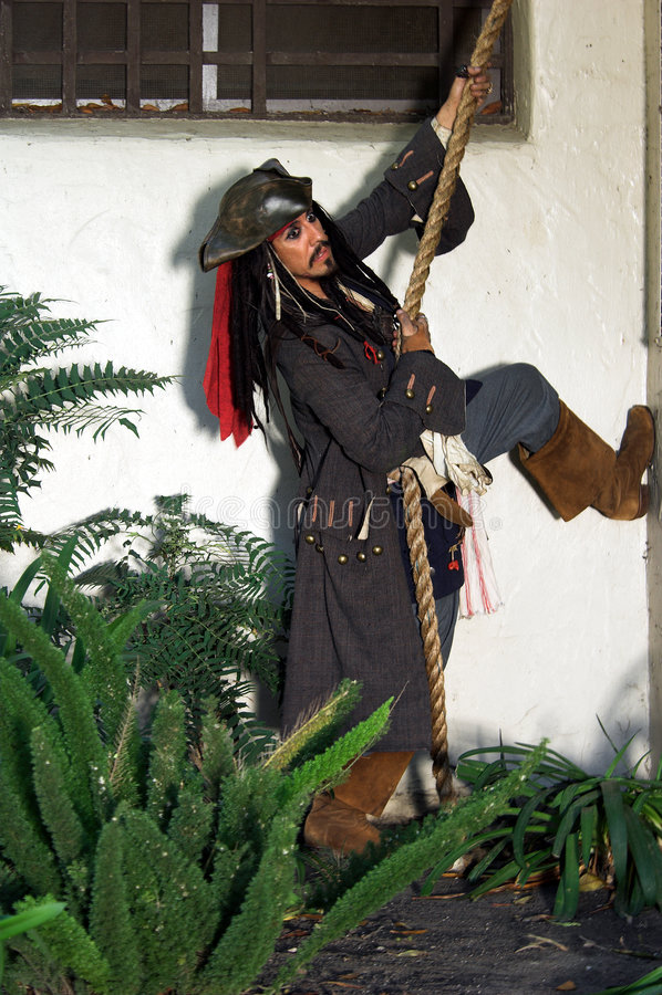 Rupture de prison de pirate photographie stock