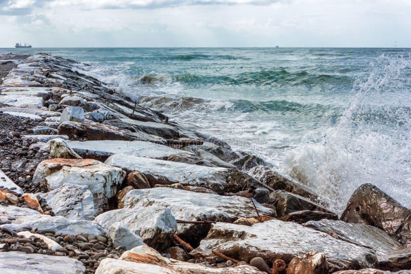 Rupture de vagues image stock