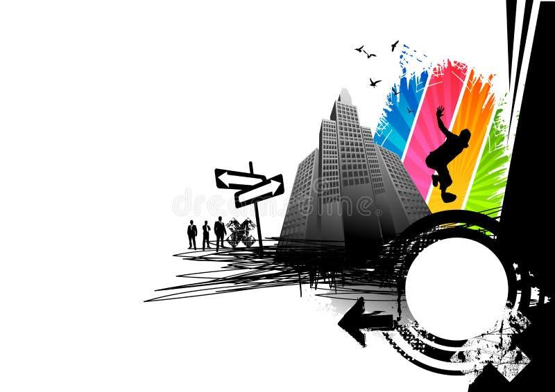 Rupture de ville urbaine illustration libre de droits