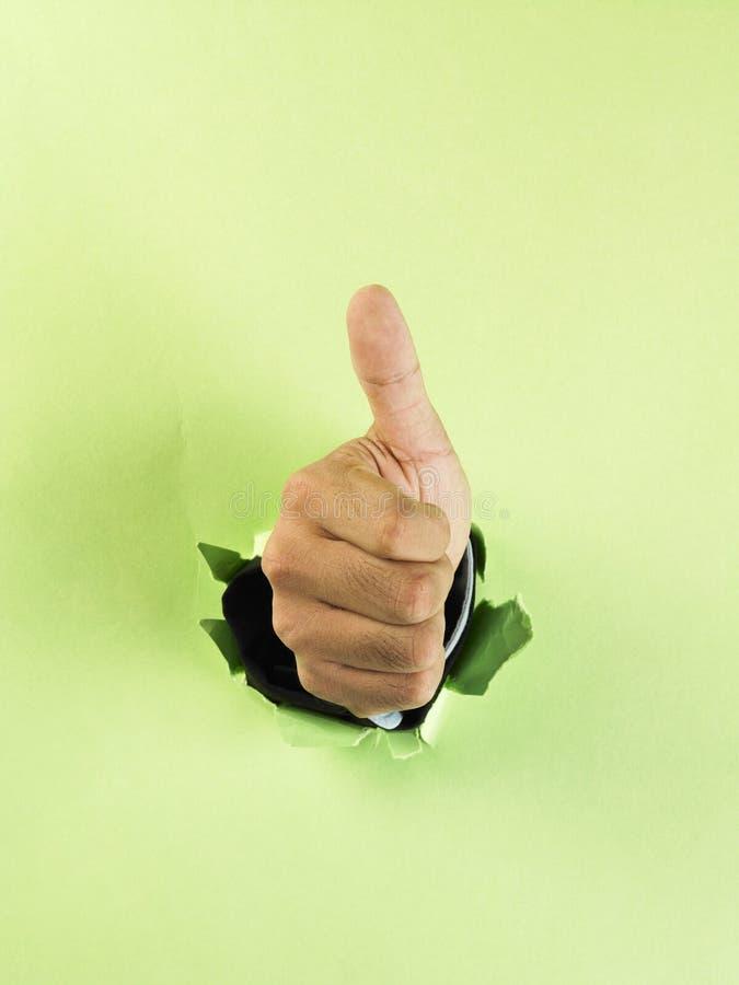 Download Rupture du papier de main photo stock. Image du gesturing - 8672194
