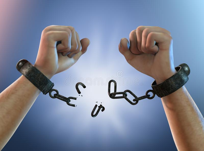 Rupture libre - rupture des dispositifs d'accrochage illustration libre de droits