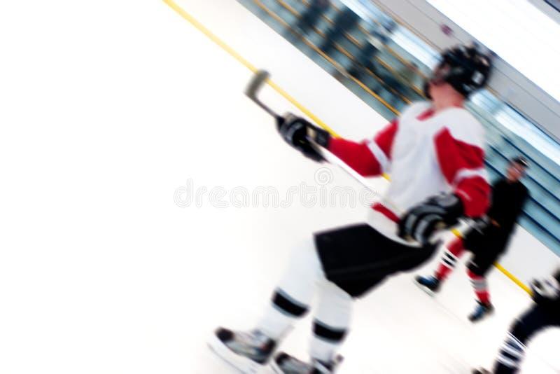 Rupture Rapide De Joueurs D Hockey Photo stock