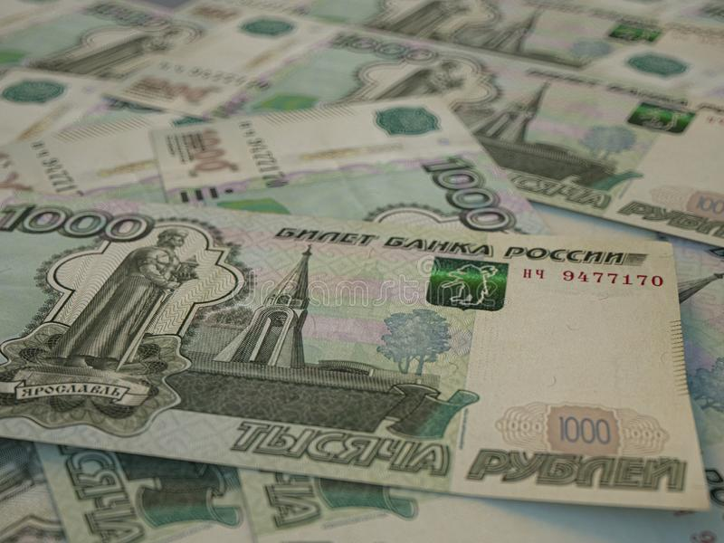 RUR. Russian currency. Russian Federation Ruble. Finance background. Macro shot. Russian currency. Russian Federation Ruble. Finance background. Closeup photo royalty free stock images