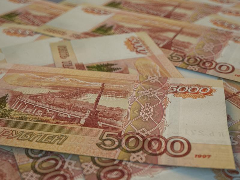 RUR. Russian currency. Russian Federation Ruble. Finance background. Macro shot. Russian currency. Russian Federation Ruble. Finance background. Closeup photo royalty free stock image