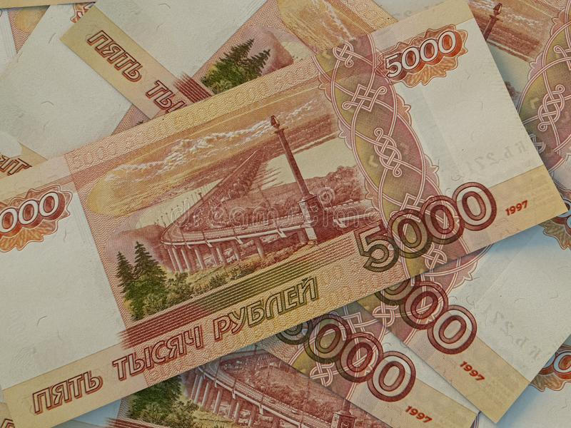 RUR. Russian currency. Russian Federation Ruble. Finance background. Macro shot. Russian currency. Russian Federation Ruble. Finance background. Closeup photo royalty free stock photography
