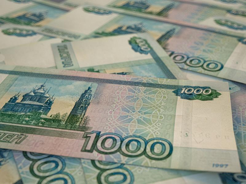 RUR. Russian currency. Russian Federation Ruble. Finance background. Macro shot. Russian currency. Russian Federation Ruble. Finance background. Closeup photo stock images