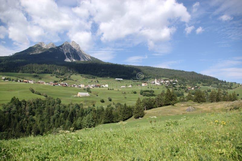 Rural Alpine landscape stock images