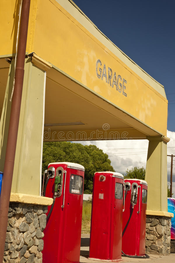 Rural Arizona Gas Station royalty free stock photos