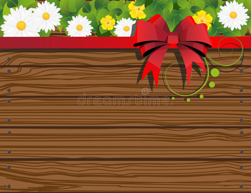 Download Rural Background With Fence And Flowers Stock Vector - Image: 31143582