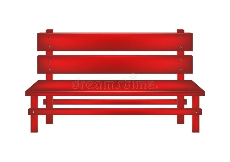 Rural bench vector illustration