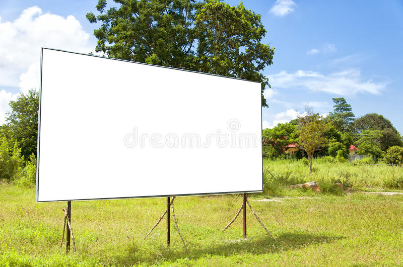 Rural Blank Bilboard Royalty Free Stock Image