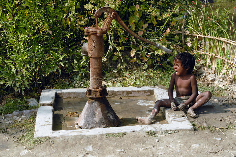Rural Children. Children in Rural Bengal are in a much worse condition socio-economically as compared to the disadvantaged children of urban areas. The plight of royalty free stock image