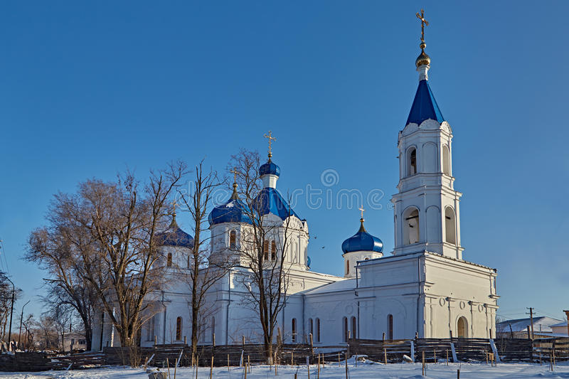Download Rural Church On A Decline. Winter Stock Photo - Image: 62855534