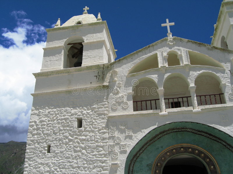 Rural church, Peru. Rural Church in Colca Canyon, Peru royalty free stock photo