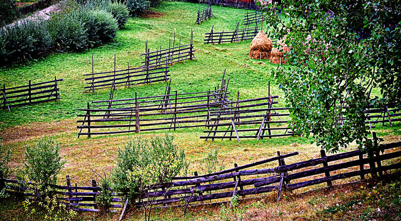 Rural country fences royalty free stock images