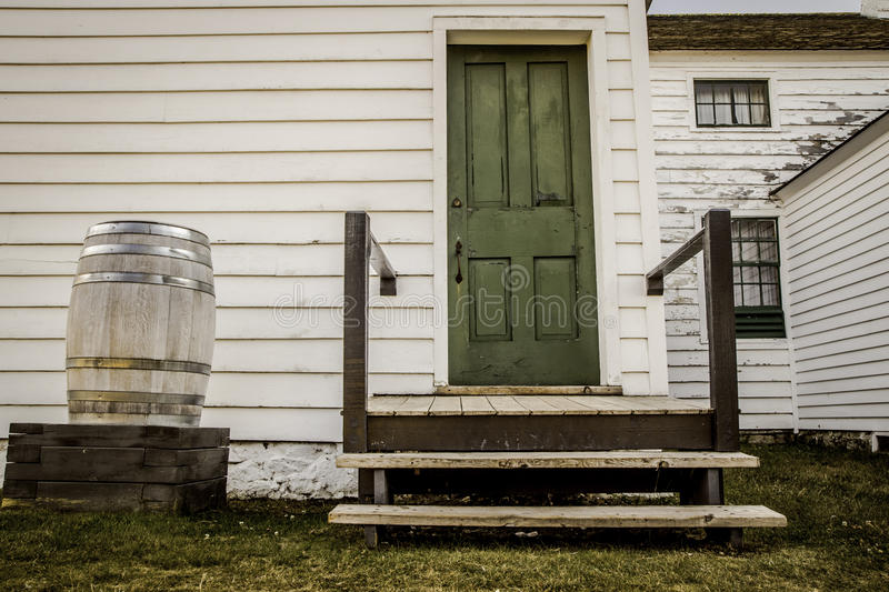 Rural Country Home. Rural home back porch with western decor. Fort Wilkins State Historical Park. Copper Harbor, Michigan. This is not a privately owned stock photo