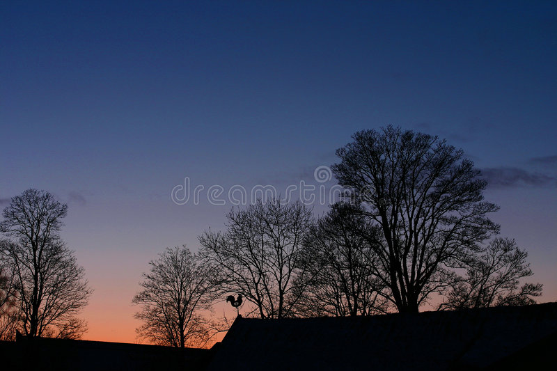 Rural denmark at night royalty free stock photography