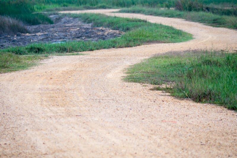 Rural road. Rural Dindaeng Road in thailand stock photography