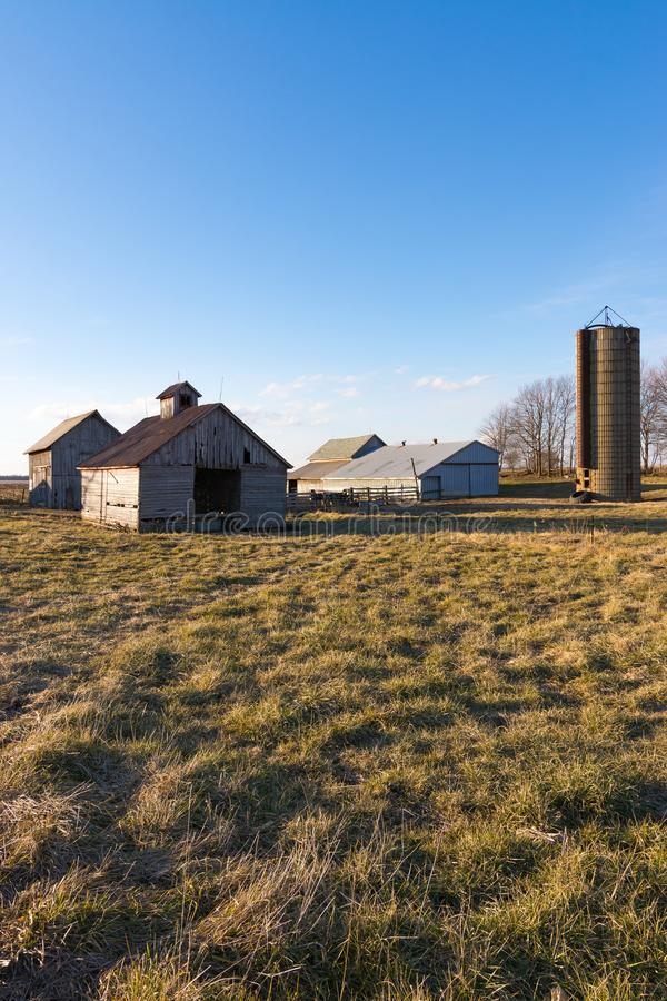 Afternoon in the Midwest. Rural farm in the Midwest. Putnam County, Illinois, USA stock photos