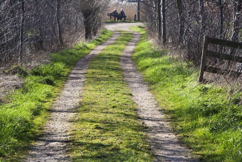 Rural farm road stock photos
