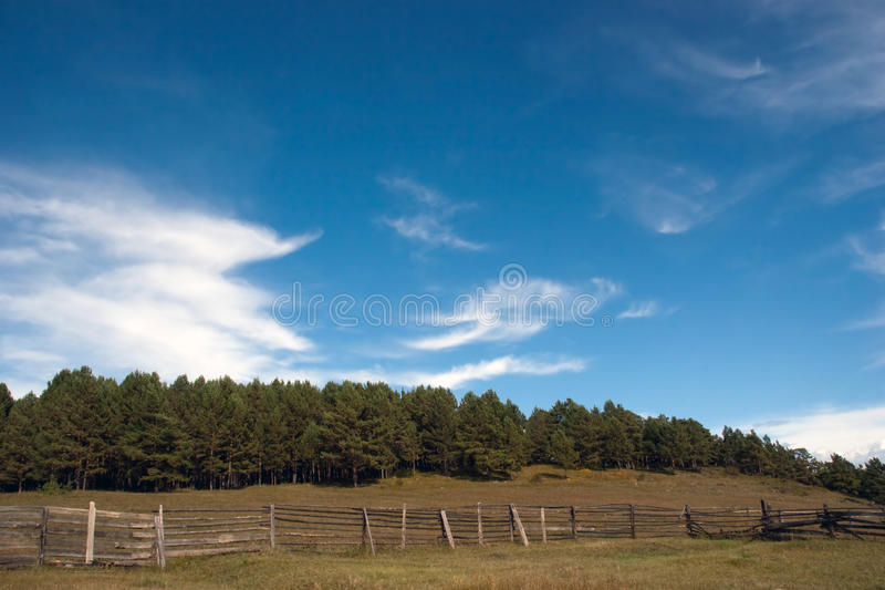 Rural fencing royalty free stock photo