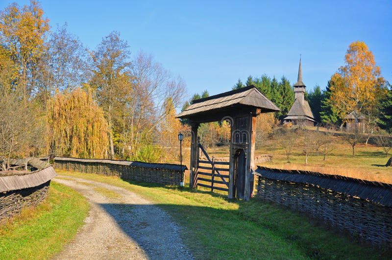 Download Rural gate in maramures stock photo. Image of home, garden - 21936432