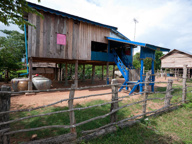 Rural Home In Cambodia Royalty Free Stock Photography