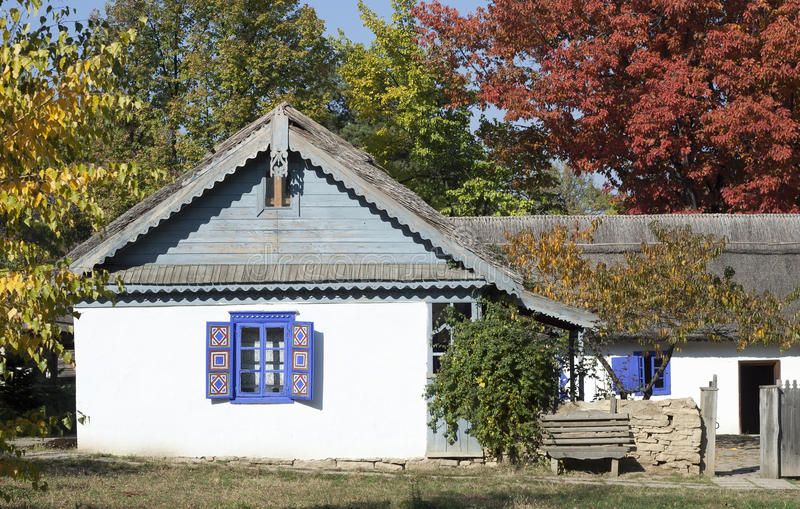 Download Rural house stock photo. Image of blue, fall, windows - 21893648