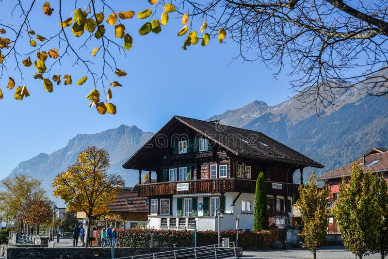 Rural house in Brienz, Switzerland royalty free stock images