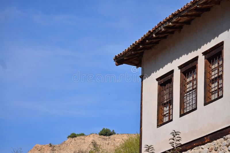 Village house and sky royalty free stock photography