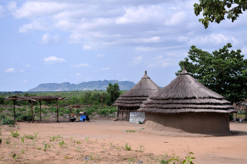 Rural houses in Africa royalty free stock image