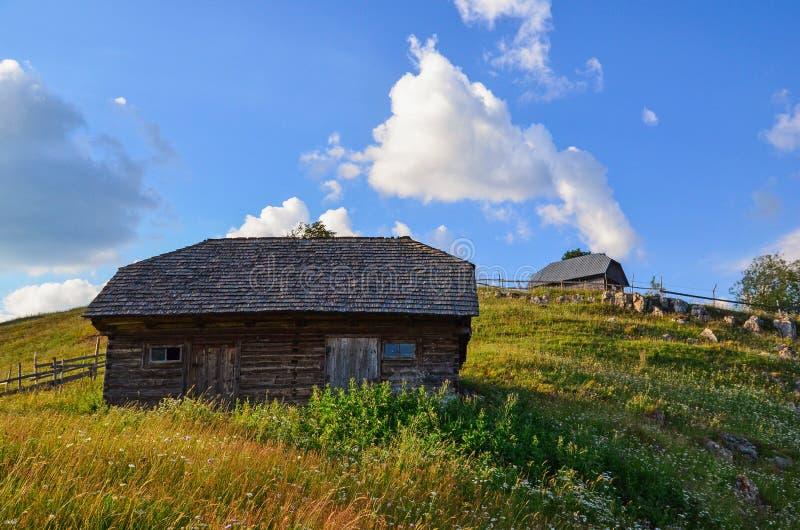 Rural houses in Sirnea stock photo