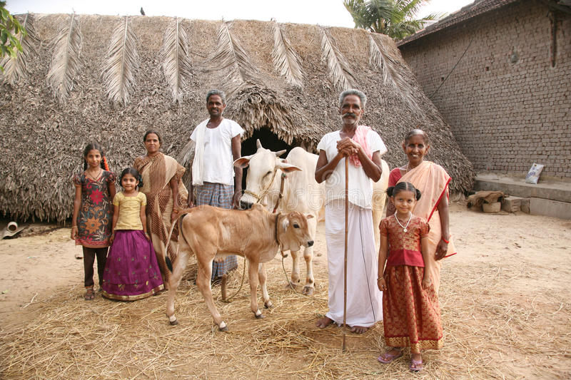 Rural Indian family royalty free stock photography