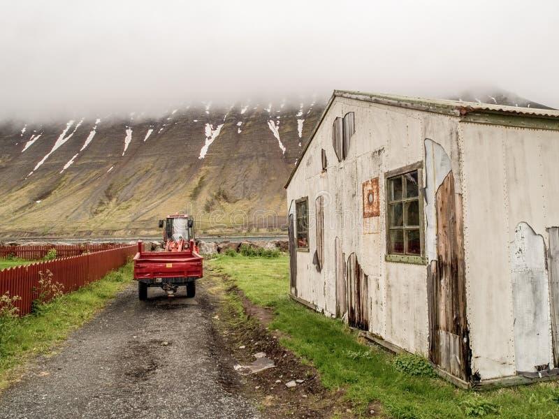 Rural Isafjordur Iceland stock images