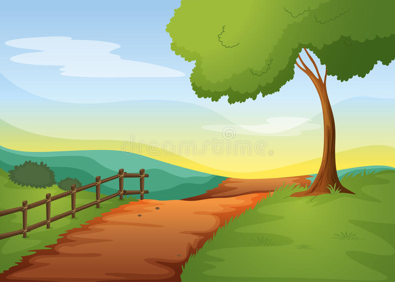 Rural landcape royalty free illustration