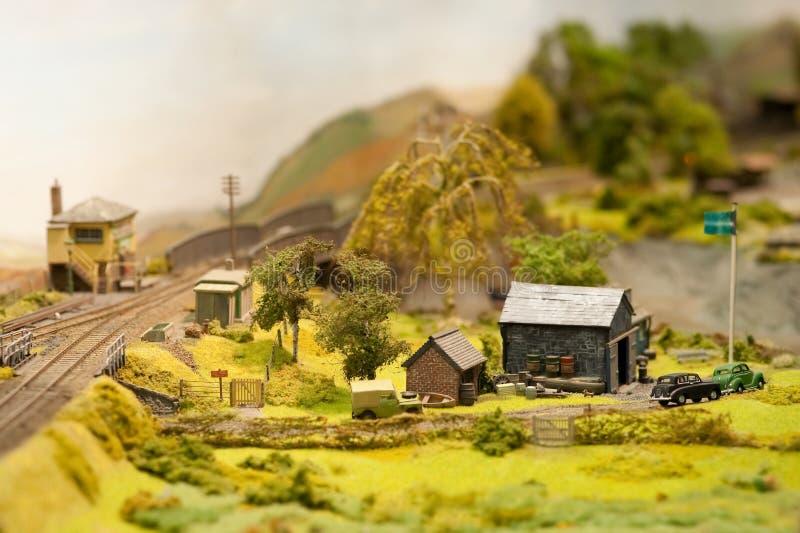 Rural landscape. Miniature model rural landscape and farm royalty free stock image
