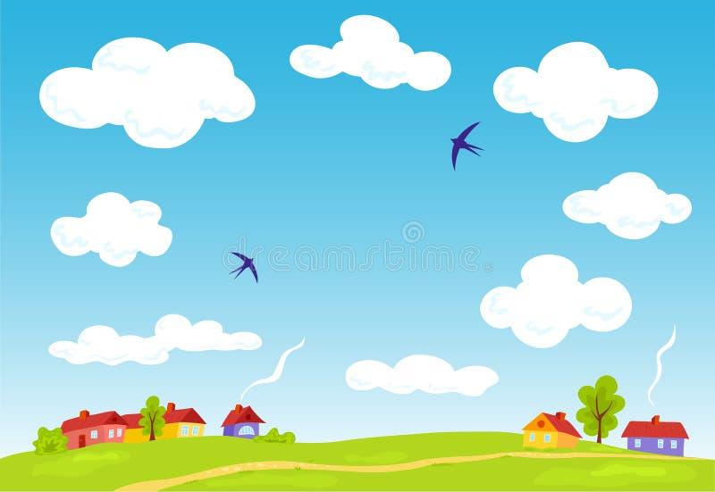 Download Rural landscape. stock vector. Illustration of grass - 21072432