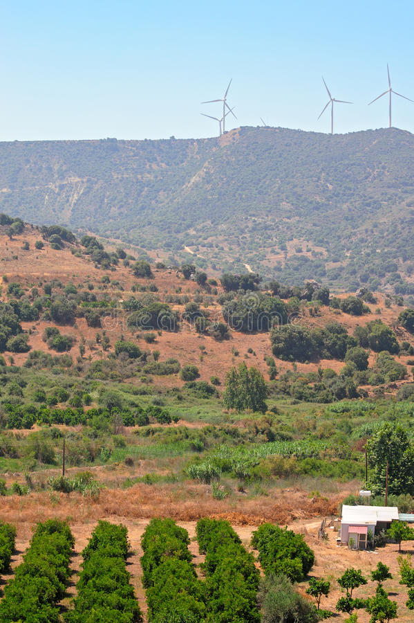 Rural landscape on Cyprus royalty free stock photography
