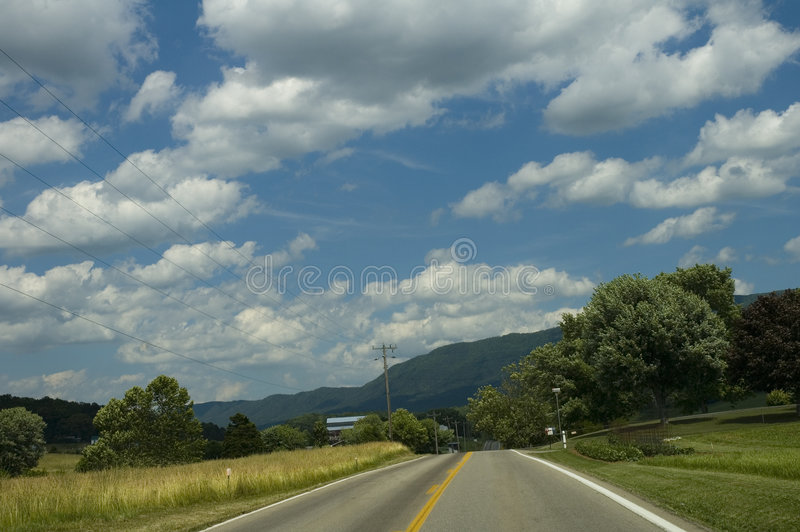 Rural Landscape, Early Summer stock image