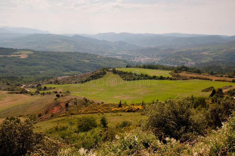 Rural landscape French Pyrenees royalty free stock image